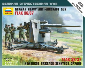 ZVEZDA 6158 - 1:72 German Heavy Anti-Aicraft Gun FLAK 36/37