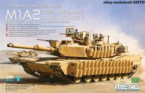 MENG MODEL TS026 - 1:35 U.S Main Battle Tank M1A2 Abrams Tusk I / Tusk II Sep