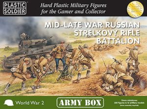 PLASTIC SOLDIER PSCAB15003 - 15 mm Mid-Late War Russian Strelkovy Rifle Battalion - Army Box