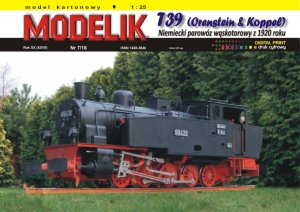 MODELIK 1607 - 1:25 T39 Orenstein & Koppel - German narrow gauge locomotive 1920