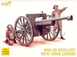 HAT 8158 - 1:72 WWI US Artillery with 75mm Cannon