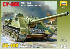 ZVEZDA 3531 - 1:35 Soviet Self-propelled Gun SU-100