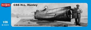 MIKROMIR 35013 - 1:35 CSS HL Hunley, Confederate Submarine