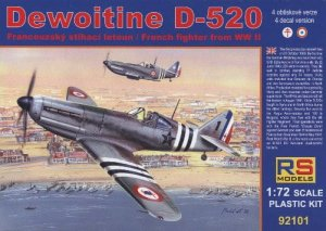 RS MODELS 92101 - 1:72 Dewoitine D-520