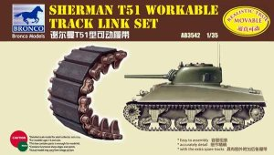 BRONCO AB 3542 - 1:35 Sherman T51 Workable Track Link Set