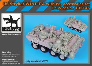 BLACK DOG T35145 - 1:35 US Stryker WINT-T A with equipment accessories set
