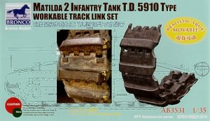 BRONCO AB 3531 - 1:35 Matilda 2 T.D. 5910 Type Workable Track Link Set