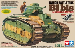 TAMIYA 30058 - 1:35 French Battle Tank B1 bis w/ Single Motor