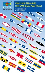 TRUMPETER 06630 - 1:200 WWII Signal Flags