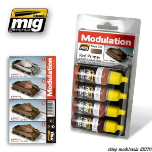 AMMO MIG 7002 - Red Primer Modulation Set