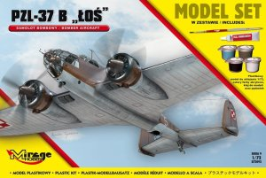 MIRAGE 872092 - 1:72 PZL 37B Łoś - Model Set