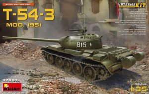 MINIART 37007 - 1:35 T-54-3 Mod.1951 w/ interior - Soviet Medium Tank