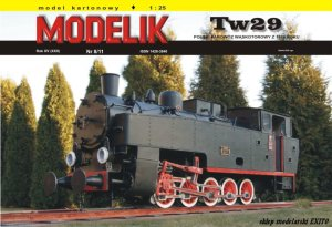 MODELIK 1108 - 1:25 Tw29 Polish steam locomotive (narrow gauge) 1929