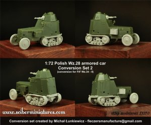 SCIBOR MINIATURES 72HM0028 - 1:72 Polish Wz.28 Conversion set 2