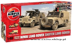 AIRFIX 06301 - 1:48 WMIK Land Rover & Snatch Land Rover Afghanistan - Twin Set