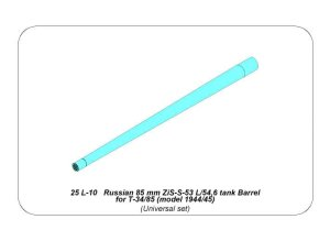 ABER 25L-10  - 1:25 Russian 85 mm ZiS-S-53 L/54,6 tank Barrel for T-34/85 (model 1944/55)