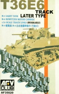 AFV CLUB 35020 - 1:35 M5/M8 Light Tank T-36E Track