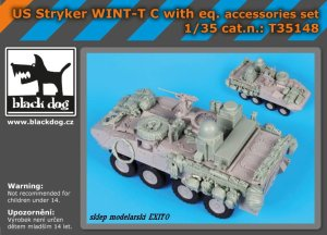 BLACK DOG T35148 - 1:35 US Stryker WINT-T C with equipment accessories set