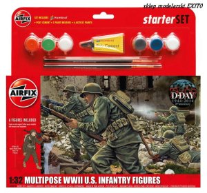 AIRFIX 55212 - 1:32 Multipose WWII US Infantry Figures