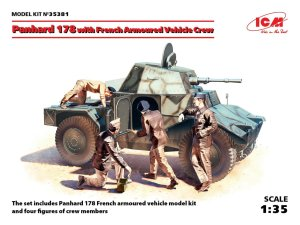 ICM 35381 - 1:35 Panhard 178 with French Armoured Vehicle Crew