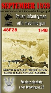 TORO MODEL 48F28 - 1:48 September 1939 Polish Infantryman with machine gun