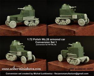 SCIBOR MINIATURES 72HM0027 - 1:72 Polish Wz.28 Conversion set 1