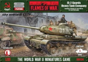 FLAMES OF WAR SBX36 - 1:100 IS-2 Guards Heavy Tank Company