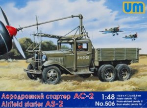 UNIMODELS 506 - 1:48 Airfield Starter AS-2 on GAZ AAA chassis