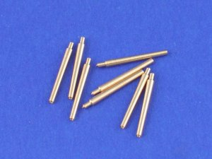 ABER 1:700L-02  - 1:700 Set of 8 pcs 380 mm short barrels for turrets with antiblast covers ships Richelieu, Jean Bart