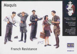 MASTER BOX 3551 - 1:35 Maquis , French Resistance