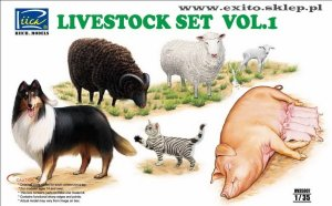 RIICH MODELS 35007 - 1:35 Livestock Set Vol.1