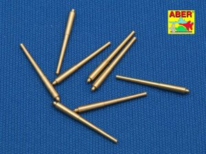 ABER 1:700L-08  - 1:700 Set of 8 pcs 381mm long barrels for turrets without antiblast covers ships Hood