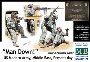 MASTER BOX 35170 - 1:35 Man Down US Modern Army Middle East , present day
