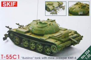 SKIF 224 - 1:35 T-55C1 Bublina w/Mine Sweeper KMT-6