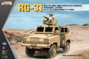 KINETIC 61012 - 1:35 RG-31 Mk.3 US Army Mine Protected Armored Personel Carrier