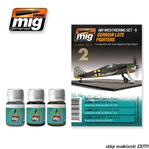 AMMO MIG 7415 - German Late Fighters - Air Weathering Set