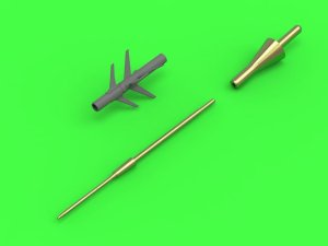 MASTER 72-113 - 1:72 MiG-25 (Foxbat) (all versions except PD/PDS) - Pitot Tube