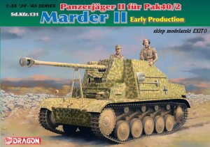 DRAGON 6769 - 1:35 Panzerjager II fur Pak 40/2 Sd.Kfz.131 Marder II Early Production