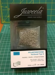JUWEELA 28098 - 1:87 Paving-stones type S dark grey 2000 pcs