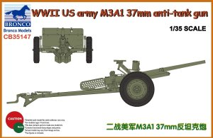 BRONCO CB 35147 - 1:35 WWII US Army M3A1 37mm AT Gun