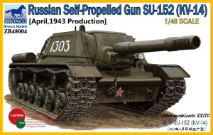 BRONCO ZB 48004 - 1:48 Russian Self-Propelled Gun SU-152 (KV-14) April 1943 Production