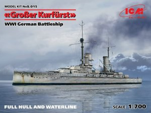 ICM S.015 - 1:700 Grosser Kurfurst WWI German Battleship