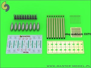 MASTER AM-24-012 - 1:24 British 3in Rocket RP-3 with 60LB SAP heads (8pcs) – for late Mk III rail
