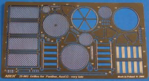 ABER 25003 - 1:25 Grilles for Sd.Kfz.171 Panther, Ausf.G Late model