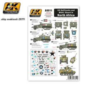 AK INTERACTIVE 811 - US Halftracks and M5A1 Stuart in North Africa