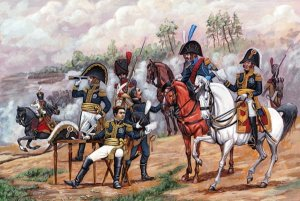 ZVEZDA 8080 - 1:72 French Napoleonic HQ Staff 1805-1814