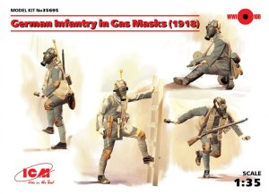 ICM 35695 - 1:35 German Infantry in Gas Masks 1918