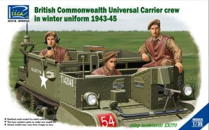 RIICH MODELS 35028 - 1:35 British & Commonwealth Universal Carrier crew in winter uniform 1943-1945
