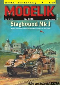 MODELIK 0814 - 1:25 Staghound Mk.I