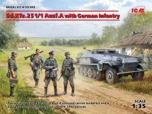 ICM 35103 - 1:35 Sd.Kfz.251/1 Ausf.A with German Infantry